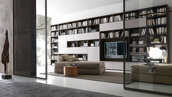 Biblioteca pentru living