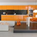 bucatarie portocalie