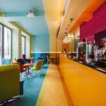 Design interior pentru o cafenea: in culori tropicale