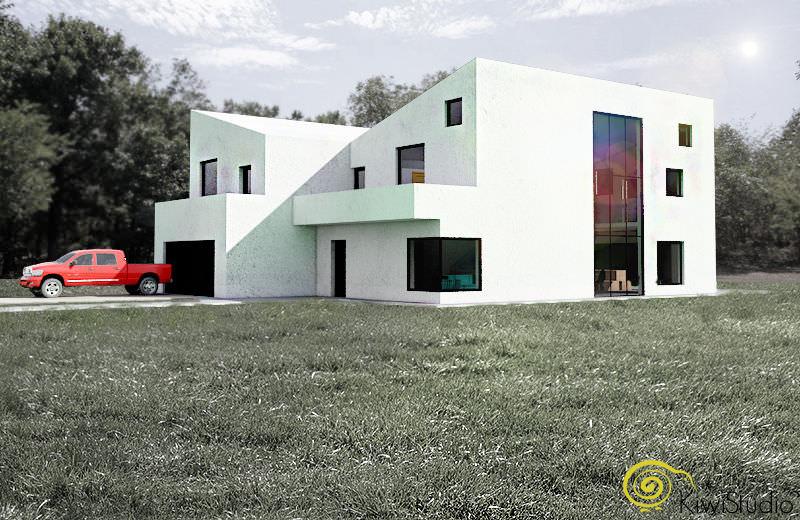 casa langa padure