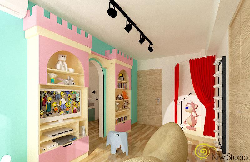Design interior pentru o camera de fetite