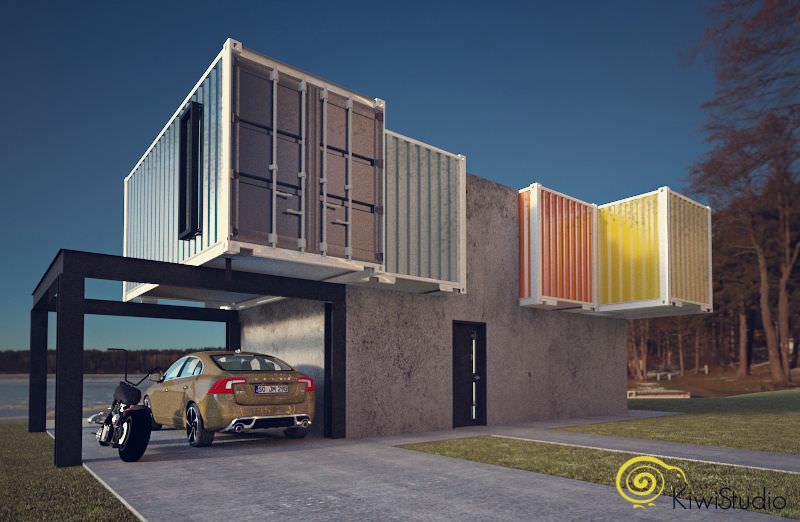 Casa din containere
