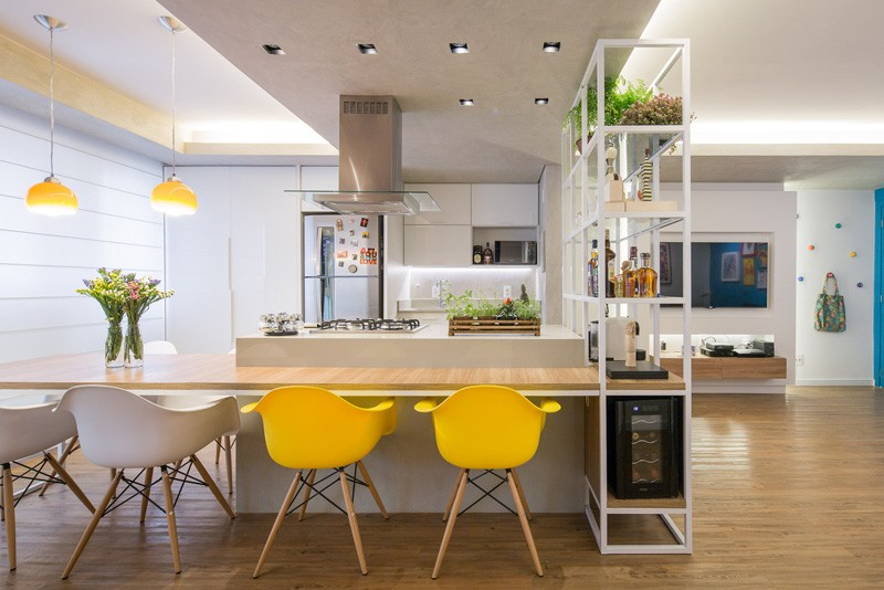 Design interior open space pentru un apartament