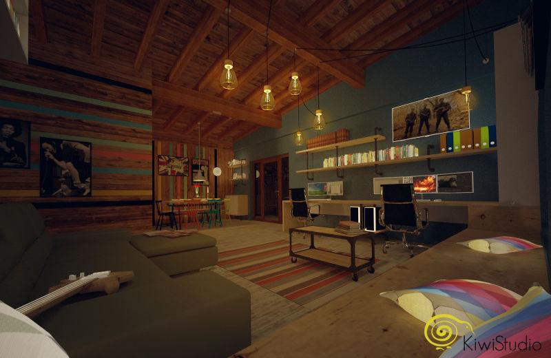Design interior pentru o casa pe structura din lemn