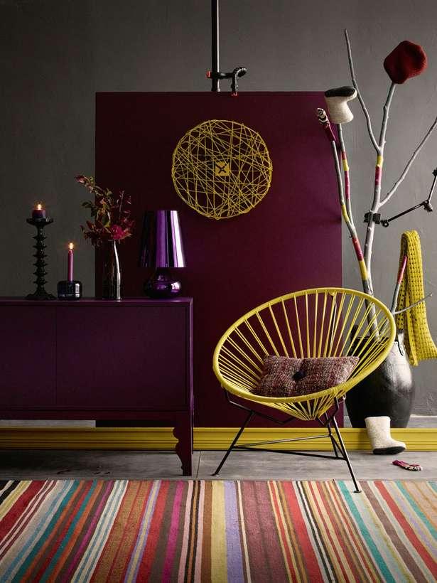 design interior cu marsala si galben