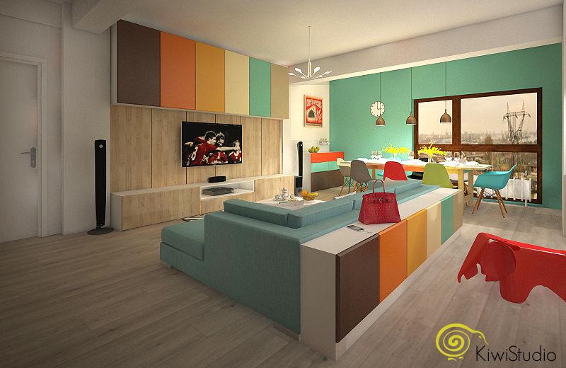 Amenajare in culori pentru un apartament