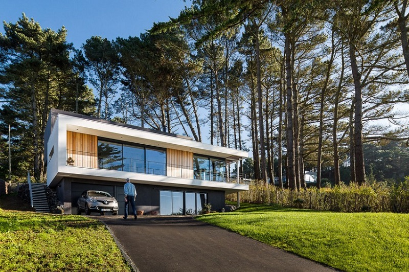 arhitectura casa crozon franta