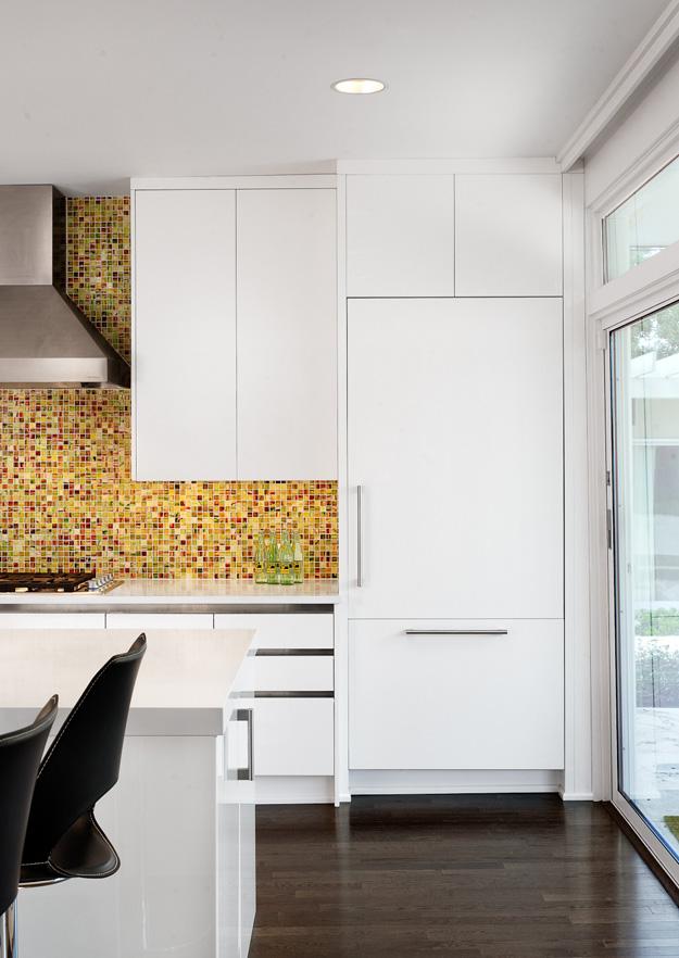design interior bucatarie mozaic colorat