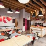 Design interior de cafenea: pretexte roz