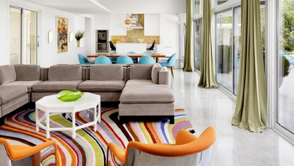design interior living colorat portocaliu j
