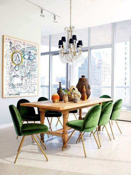 design interior scaune verzi