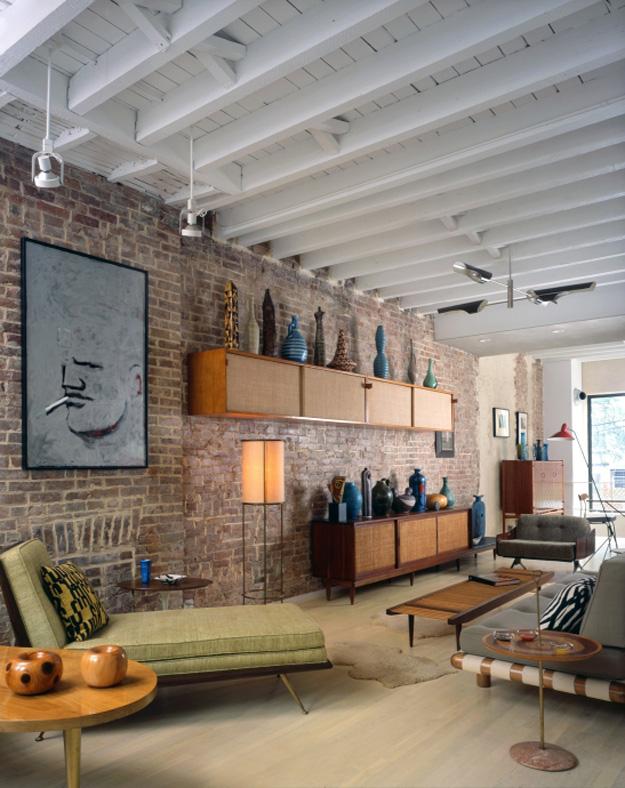 inspiratie design interior caramida aparenta
