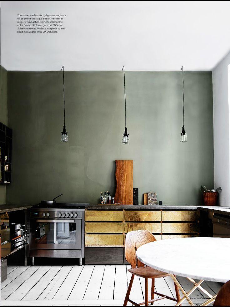design interior bucatarie detalii bronz