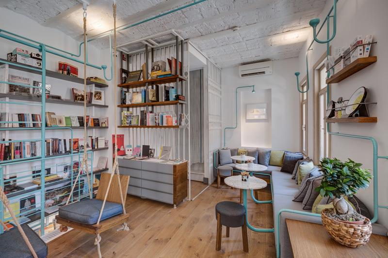 design interior industrial pentru cafenea