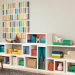 Idei pentru living: rafturi modulare de perete