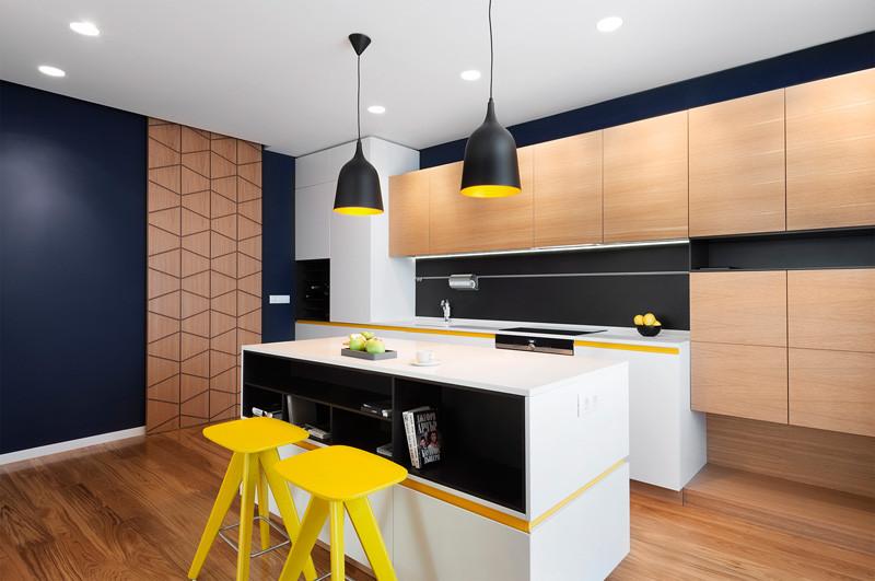 Accente de galben pentru design de apartament