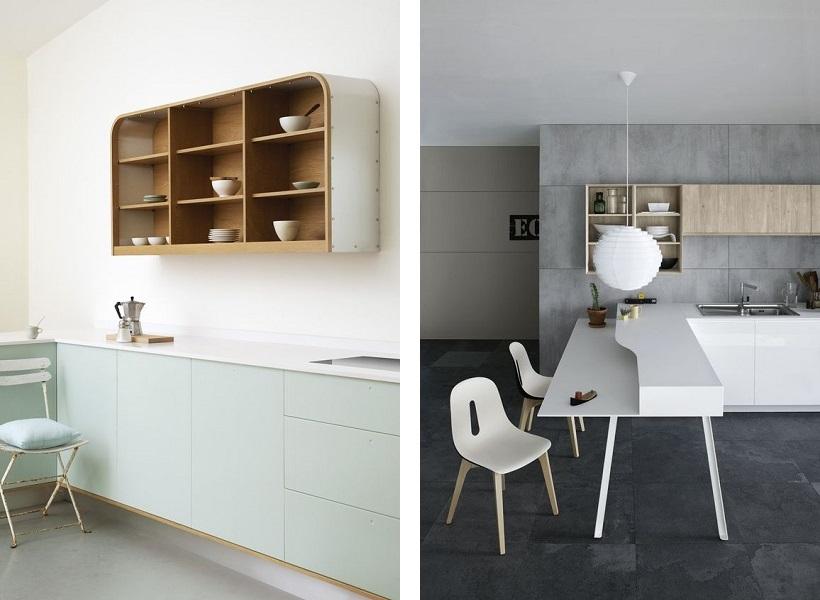 bucatarii vintage si minimalist doua culori