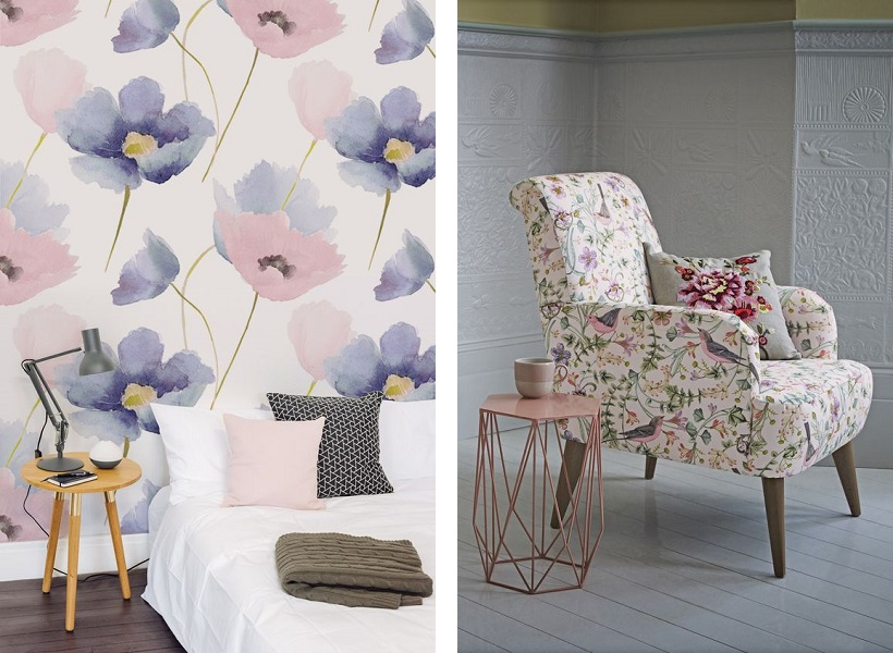 design floral scaun