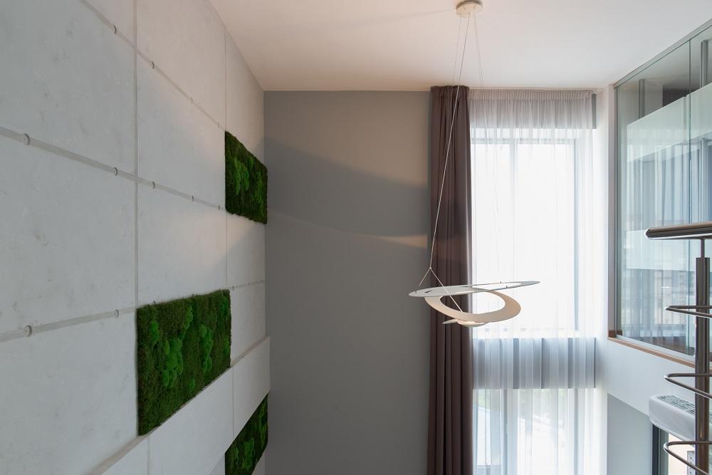 design interior duplex beton aparent