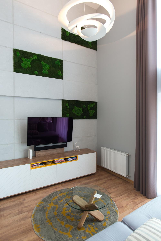 design interior beton aparent apartament