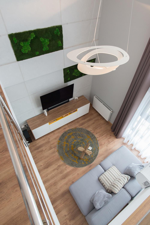 design interior duplex living apartament