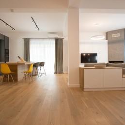 amenajari interioare moderne cu gri pentru living open space