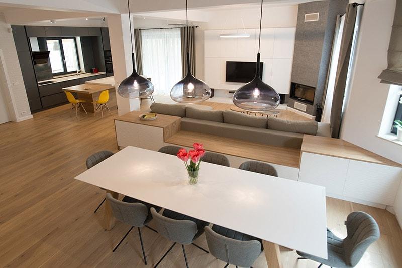 amenajari interioare moderne cu gri minimalism scandinav