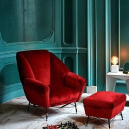 design interior living fotoliu rosu
