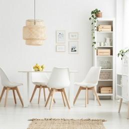 amenajari interioare in stil scandinav loc de luat masa