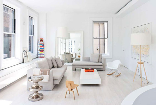 apartament alb