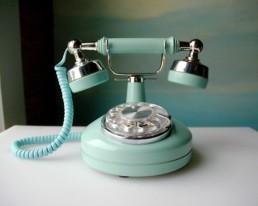 telefon turcoaz vintage