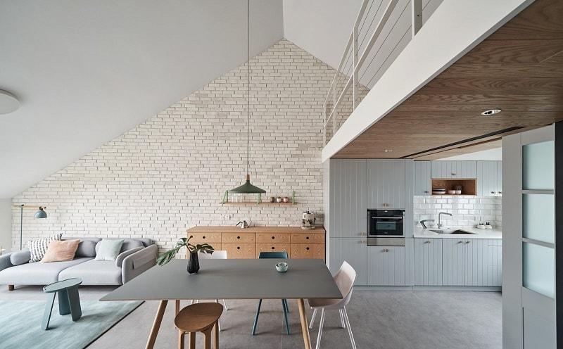 design interior case cu mezanin