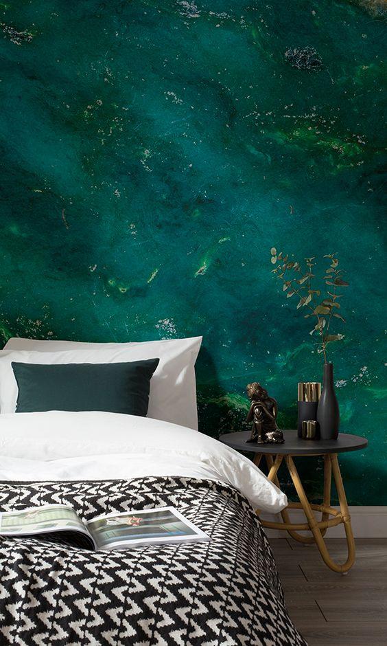 design interior dormitor turcoaz verzui