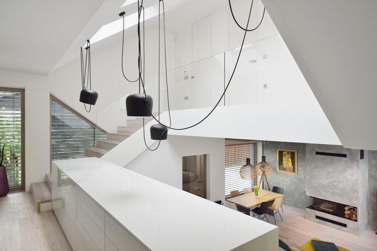 design interior case cu mezanin dining open space