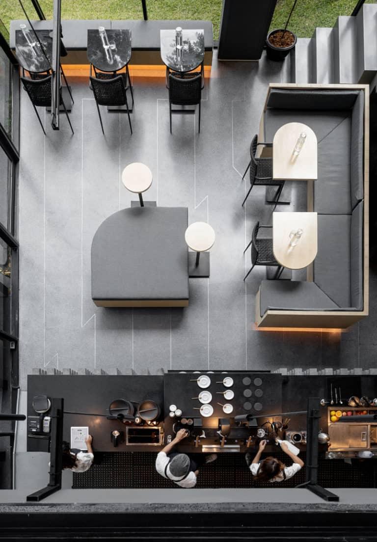 stil industrial amenajare cafenea