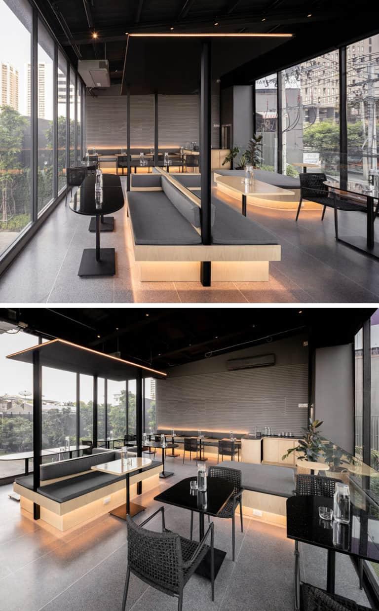 cafenea stil industrial design interior