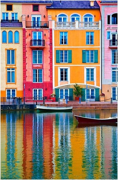 arhitectura din portofino italia port case colorate