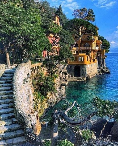 portofino italia case la mare