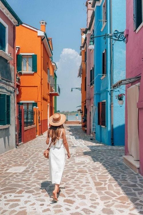 arhitectura din portofino italia case colorate