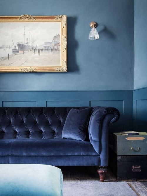 Design interior albastru clasic e culoarea anului 2020