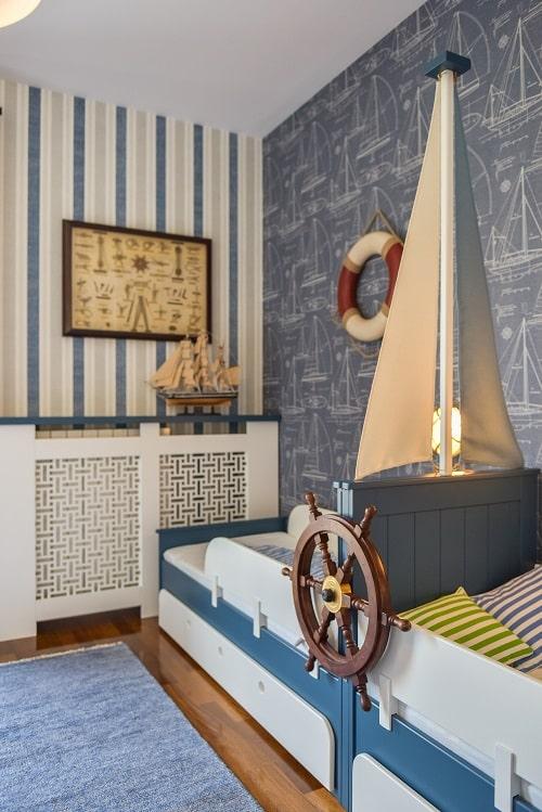 camera de copii cu tematica marina