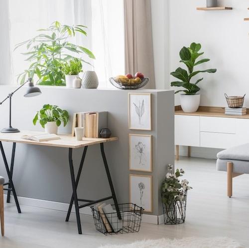Amenajari interioare in stil scandinav living alb gri