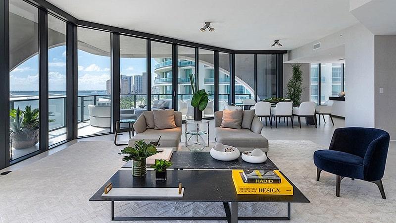 Complex rezdential de lux in Miami, design interior Zaha Hadid
