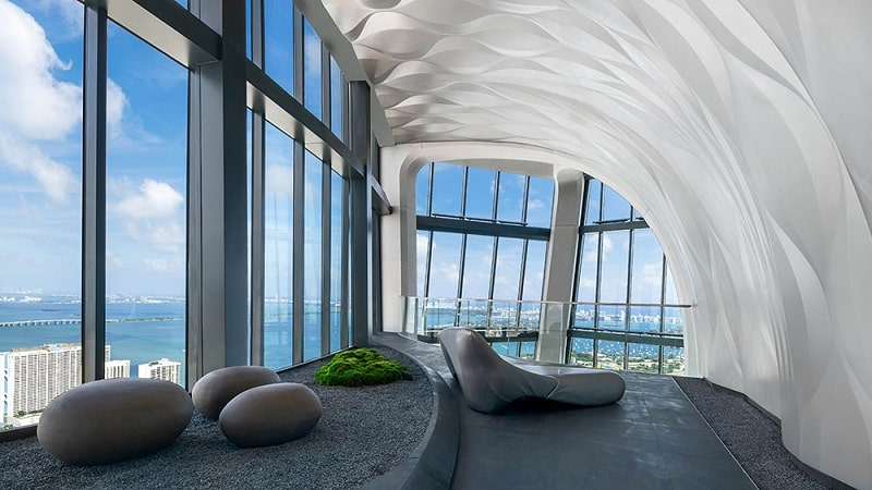 Design interior Zaha Hadid in Miami